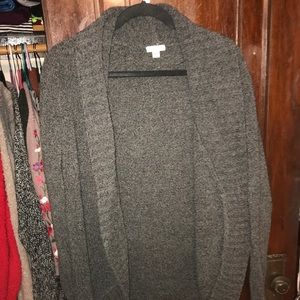Extremely soft gray cardigan